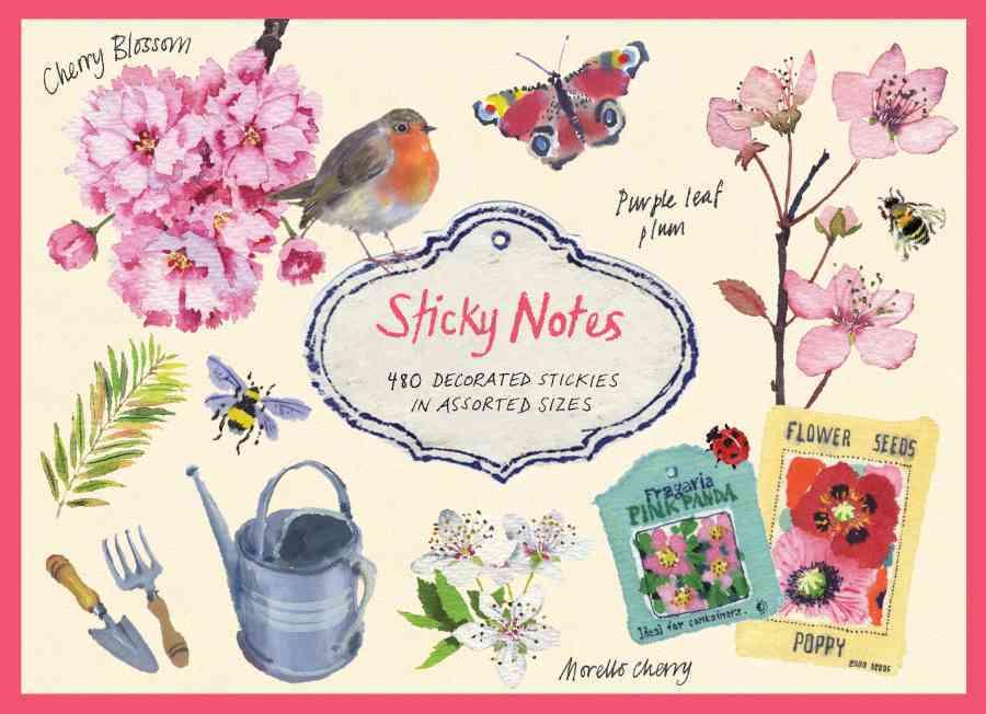 Cherry Blossom Garden Sticky Notes By Woodin, Mary (ILT)